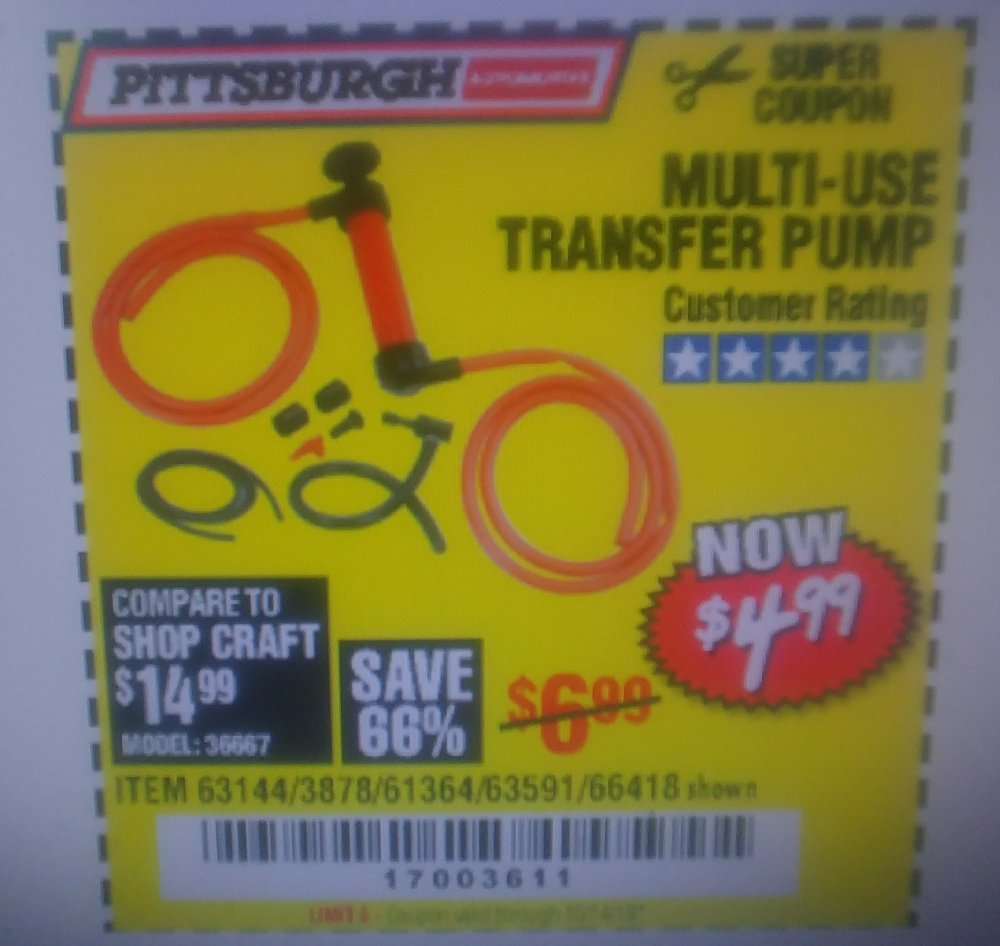 Harbor Freight Coupon, HF Coupons - Multi-use Transfer Pump