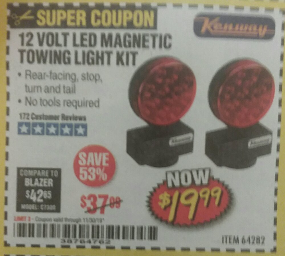 Harbor Freight Coupon, HF Coupons - 12 volt led magnetic tow lights