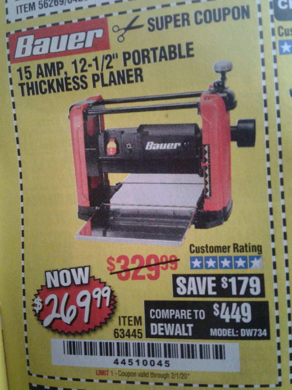 Harbor Freight Coupon, HF Coupons - Bauer 15 Amp 12 1/2