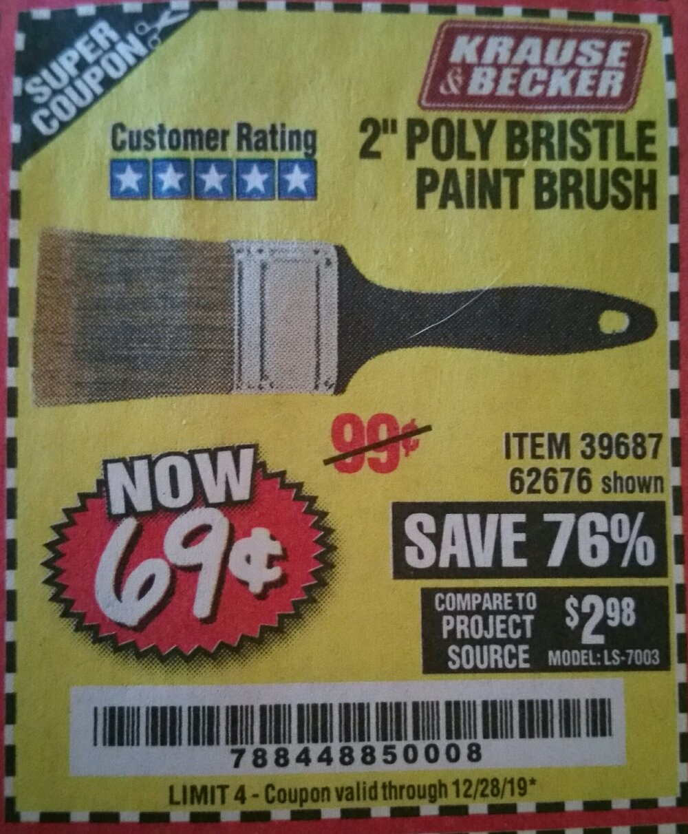 Harbor Freight Coupon, HF Coupons - 2 In. Professional Paint Brush
