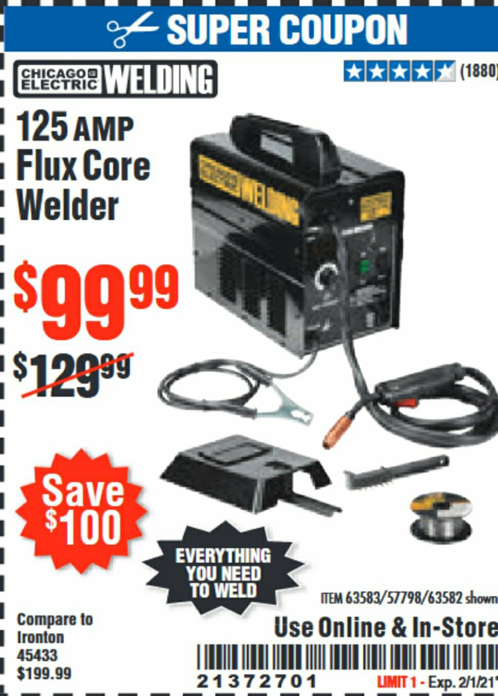 Harbor Freight Coupon, HF Coupons - flux welder