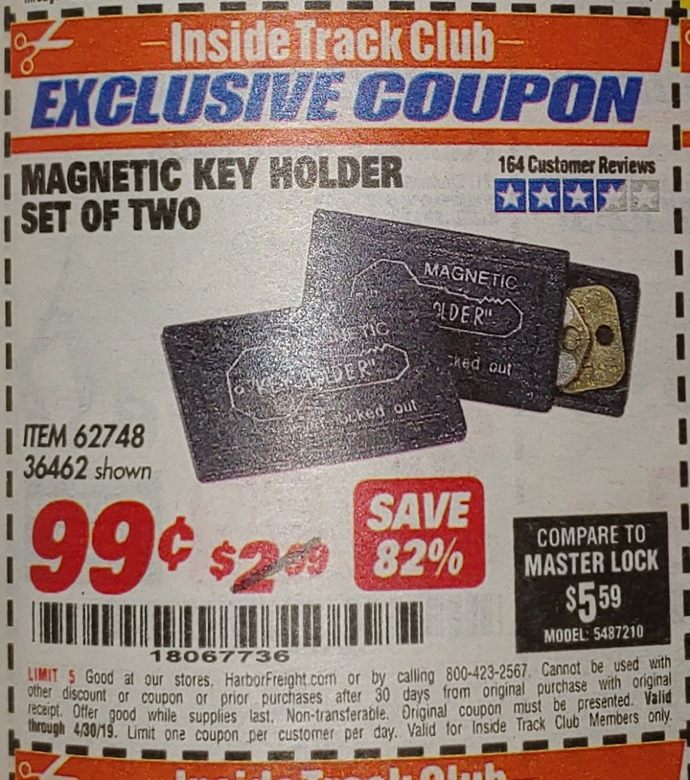 Harbor Freight Coupon, HF Coupons - Magnetic Key Holder Set Of Two