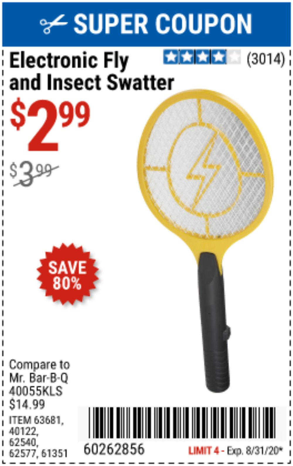 Harbor Freight Coupon, HF Coupons - Electric Fly Swatter