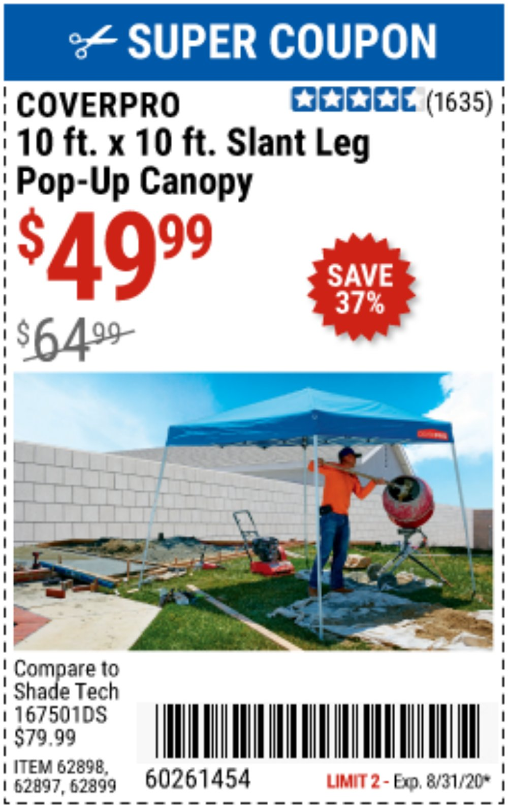 Harbor Freight Coupon, HF Coupons - Coverpro 10 Ft. X 10 Ft. Popup Canopy