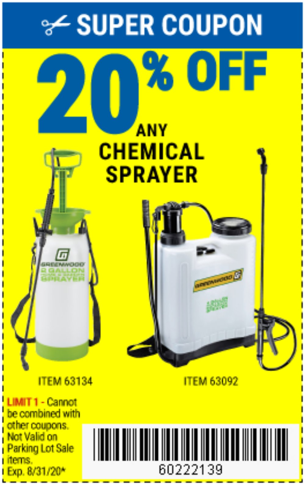 Harbor Freight Coupon, HF Coupons - 4 Gallon Backpack Sprayer