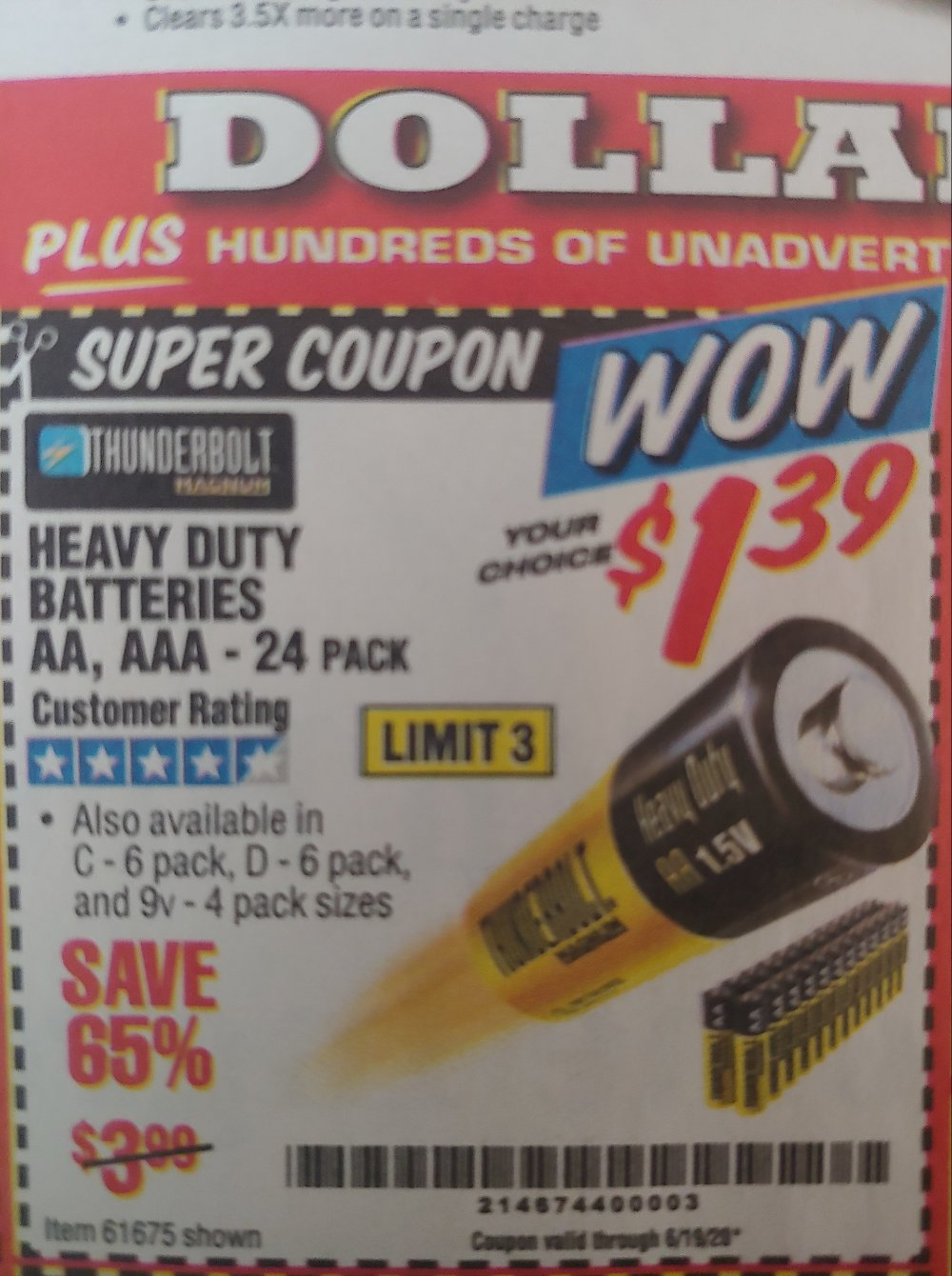 Harbor Freight Coupon, HF Coupons - Heavy Duty Batteries