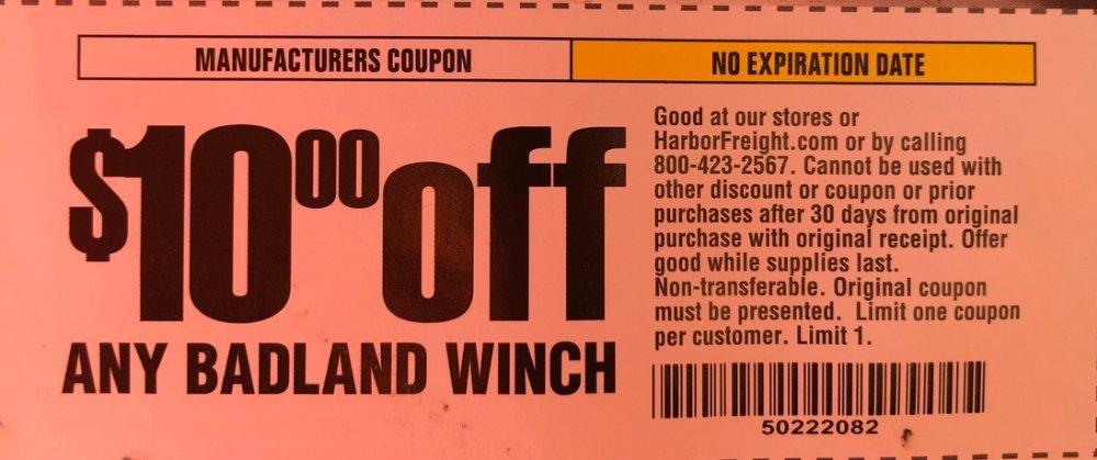 Harbor Freight Coupon, HF Coupons - 10$ coupon