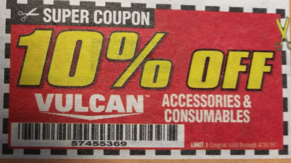 Harbor Freight Coupon, HF Coupons - 10% off Vulcan accessories