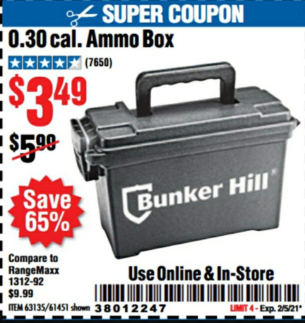 Harbor Freight Coupon, HF Coupons - Ammo Box