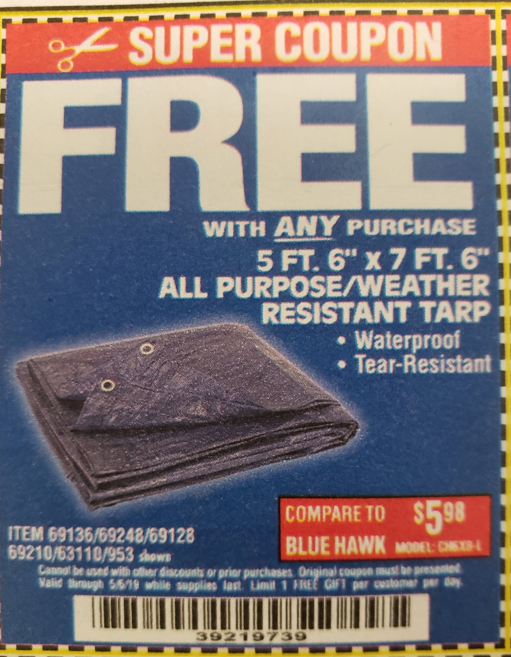 Harbor Freight Coupon, HF Coupons - FREE - 5 Ft. 6