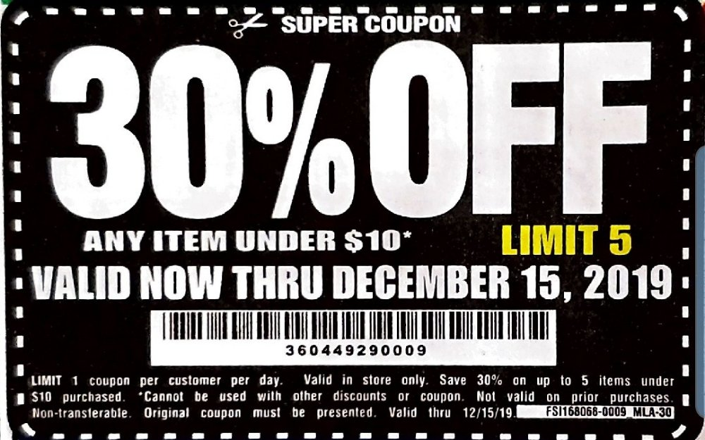 Harbor Freight Coupon, HF Coupons - 30% off