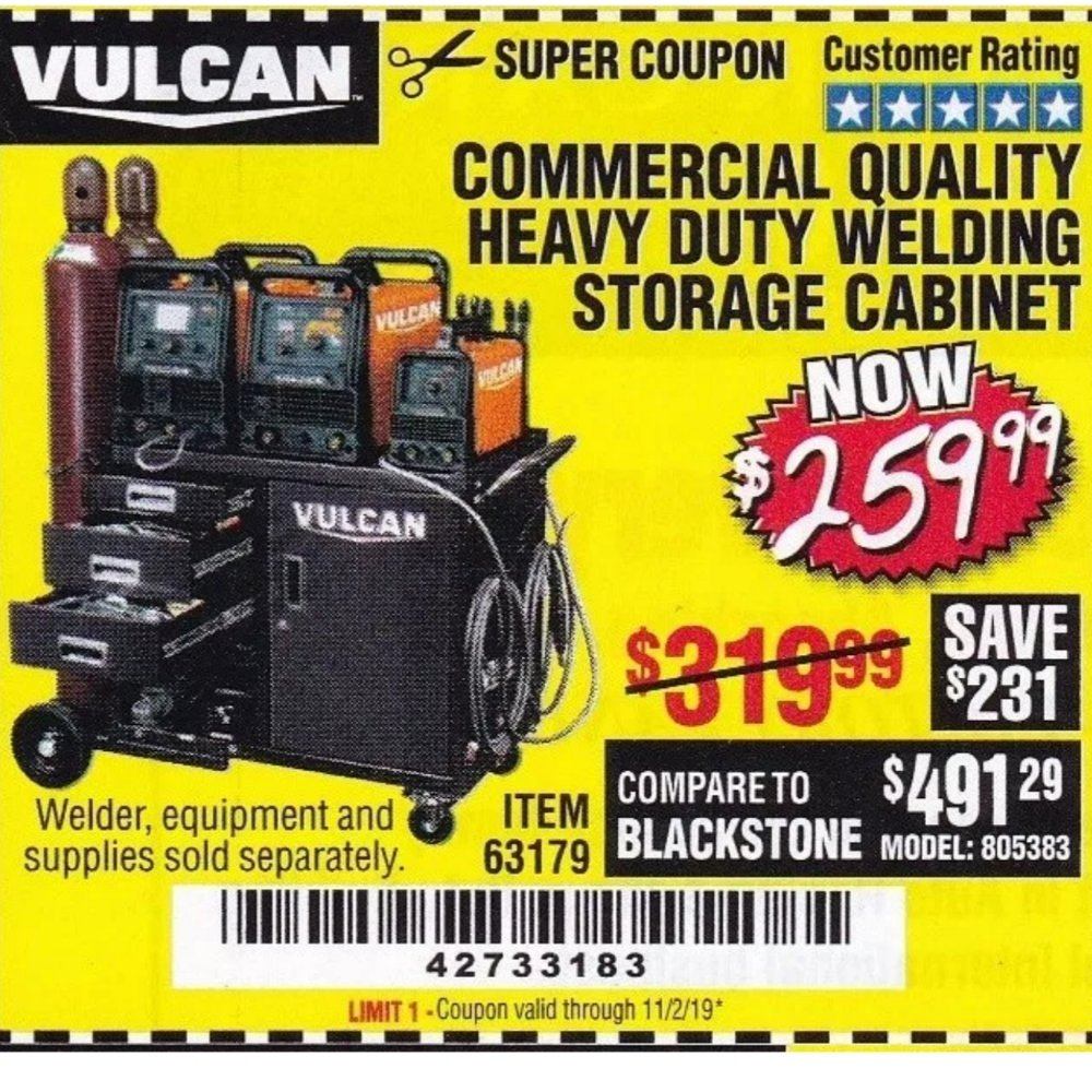 Harbor Freight Coupon, HF Coupons - Commercial Quality Heavy Duty Welding Cabinet