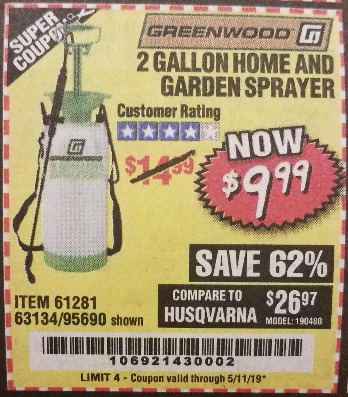Harbor Freight Coupon, HF Coupons - 2 Gallon Home And Garden Sprayer