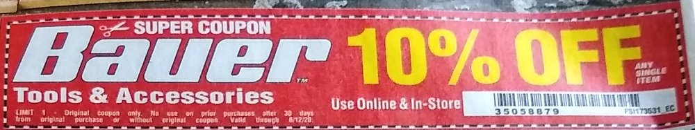 Harbor Freight Coupon, HF Coupons - Bauer Tools & Accessories 10% OFF