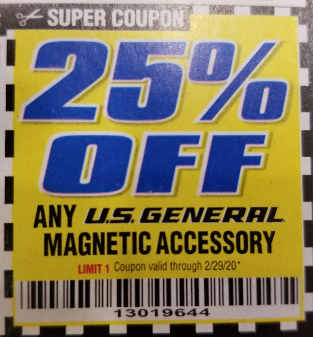 Harbor Freight Coupon, HF Coupons - US General Magnetic Accessory