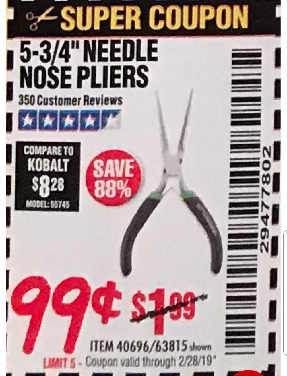 Harbor Freight Coupon, HF Coupons - 5-3/4