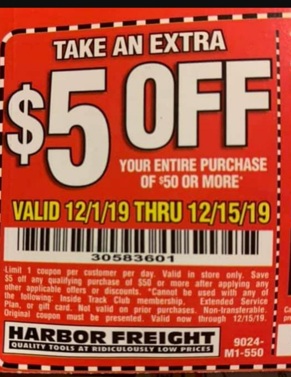 Harbor Freight Coupon, HF Coupons - 5% off over 50USD
