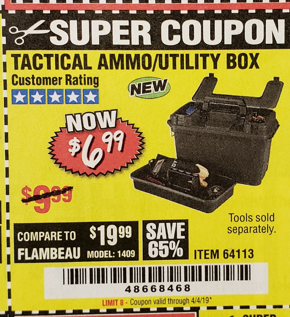 Harbor Freight Coupon, HF Coupons - Tactical Ammo Box W/tray