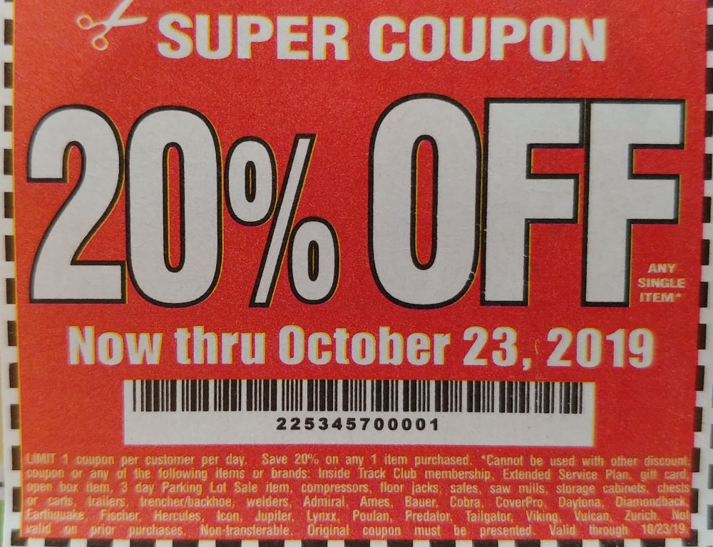 Harbor Freight Coupon, HF Coupons - 20%
