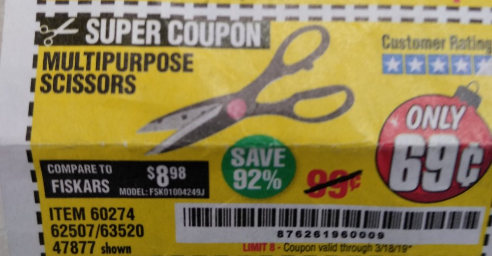 Harbor Freight Coupon, HF Coupons - Multipurpose Scissors