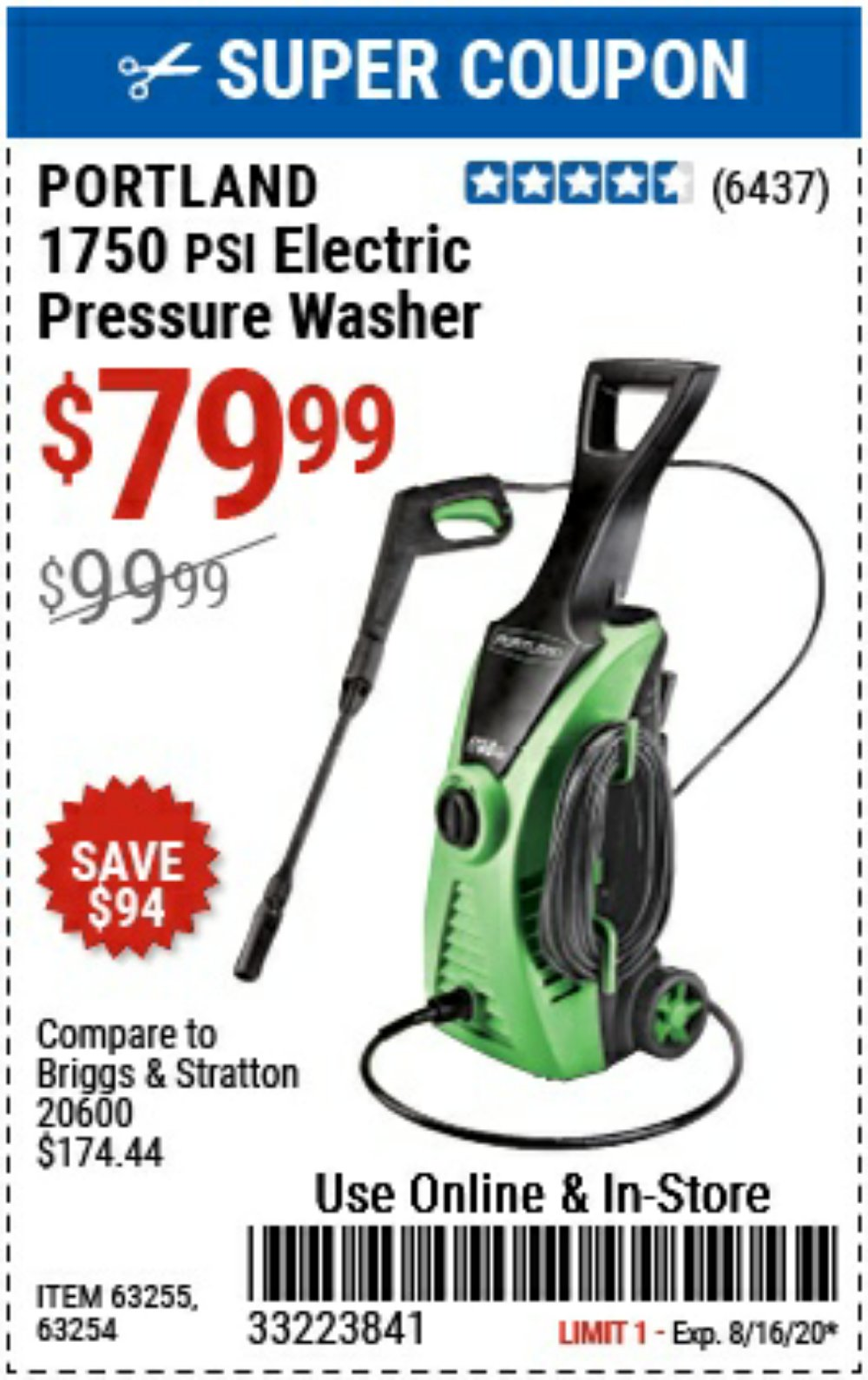 Harbor Freight Coupon, HF Coupons - power washer