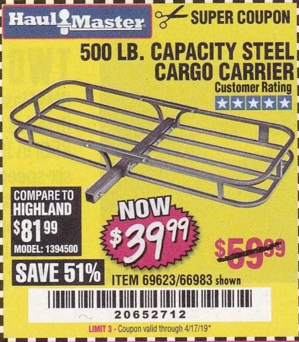 Harbor Freight Coupon, HF Coupons - Steel Cargo Carrier