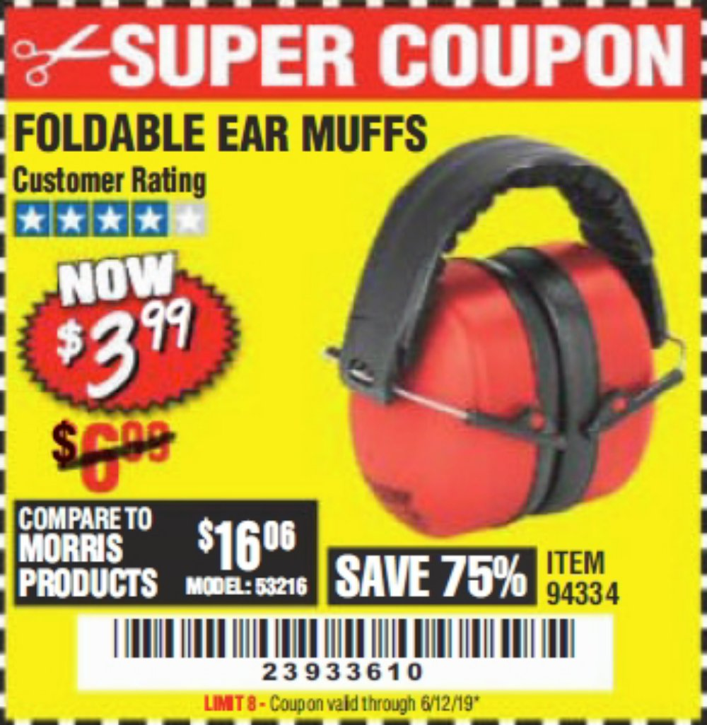 Harbor Freight Coupon, HF Coupons - Ear Muffs