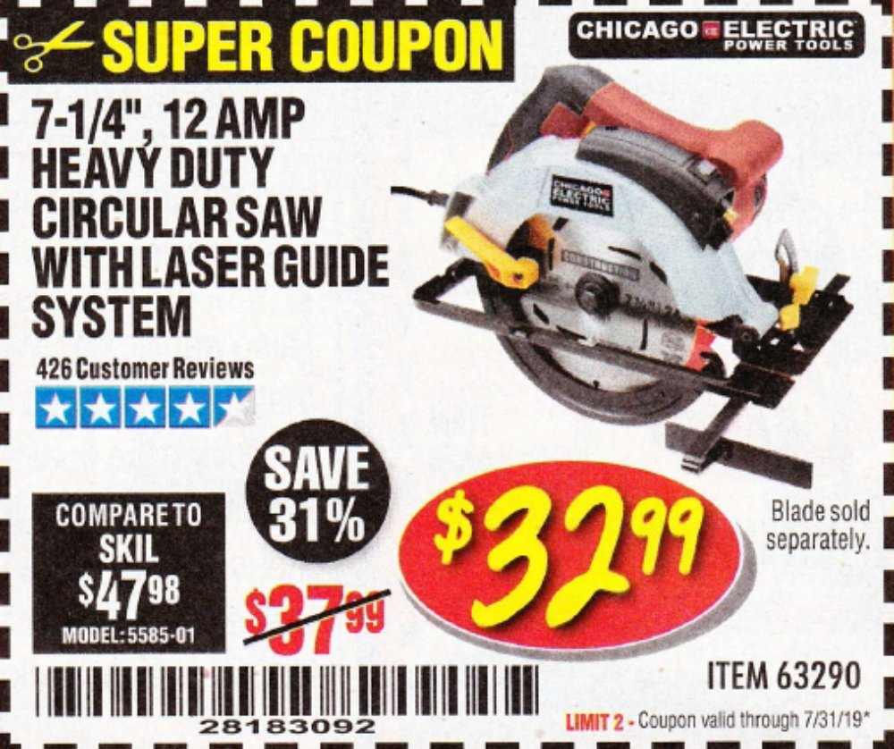 Harbor Freight Coupon, HF Coupons - 7-1/4