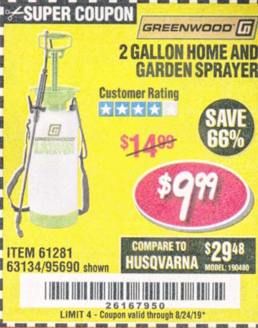 Harbor Freight Coupon, HF Coupons - 2 Gallon Home And Garden Sprayer