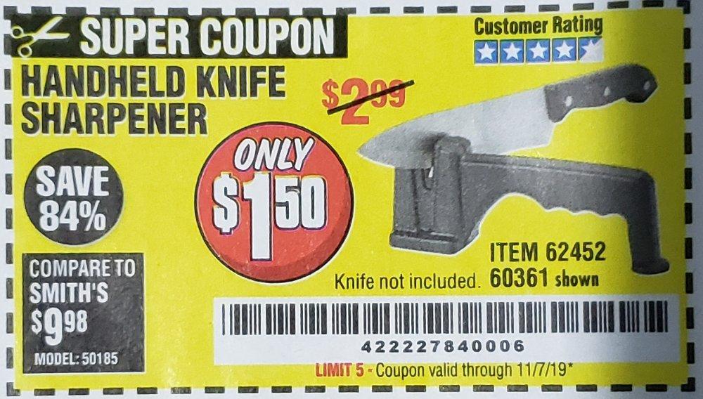 Harbor Freight Coupon, HF Coupons - Handheld Knife Sharpener