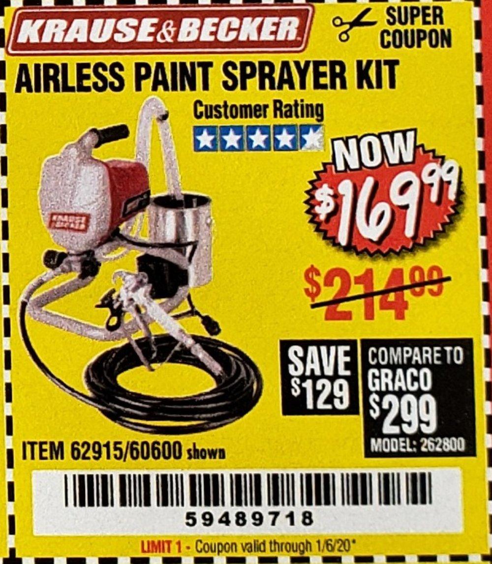Harbor Freight Coupon, HF Coupons - Airless Paint Sprayer Kit