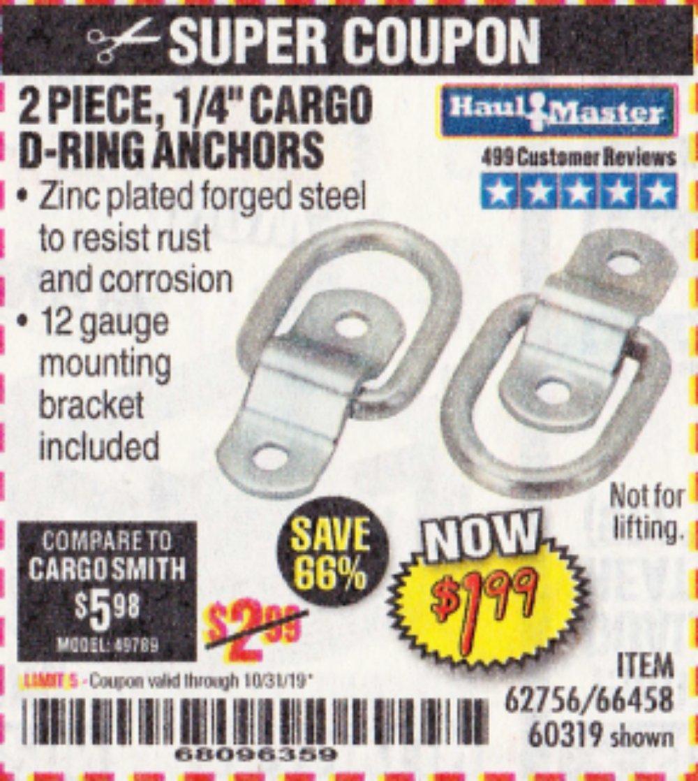 Harbor Freight Coupon, HF Coupons - 2 Piece, 1/4