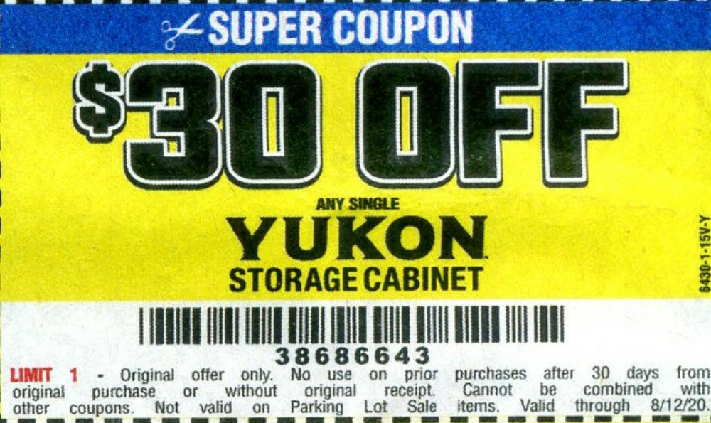 Harbor Freight Coupon, HF Coupons - $30 off for YUKON storage cabinet