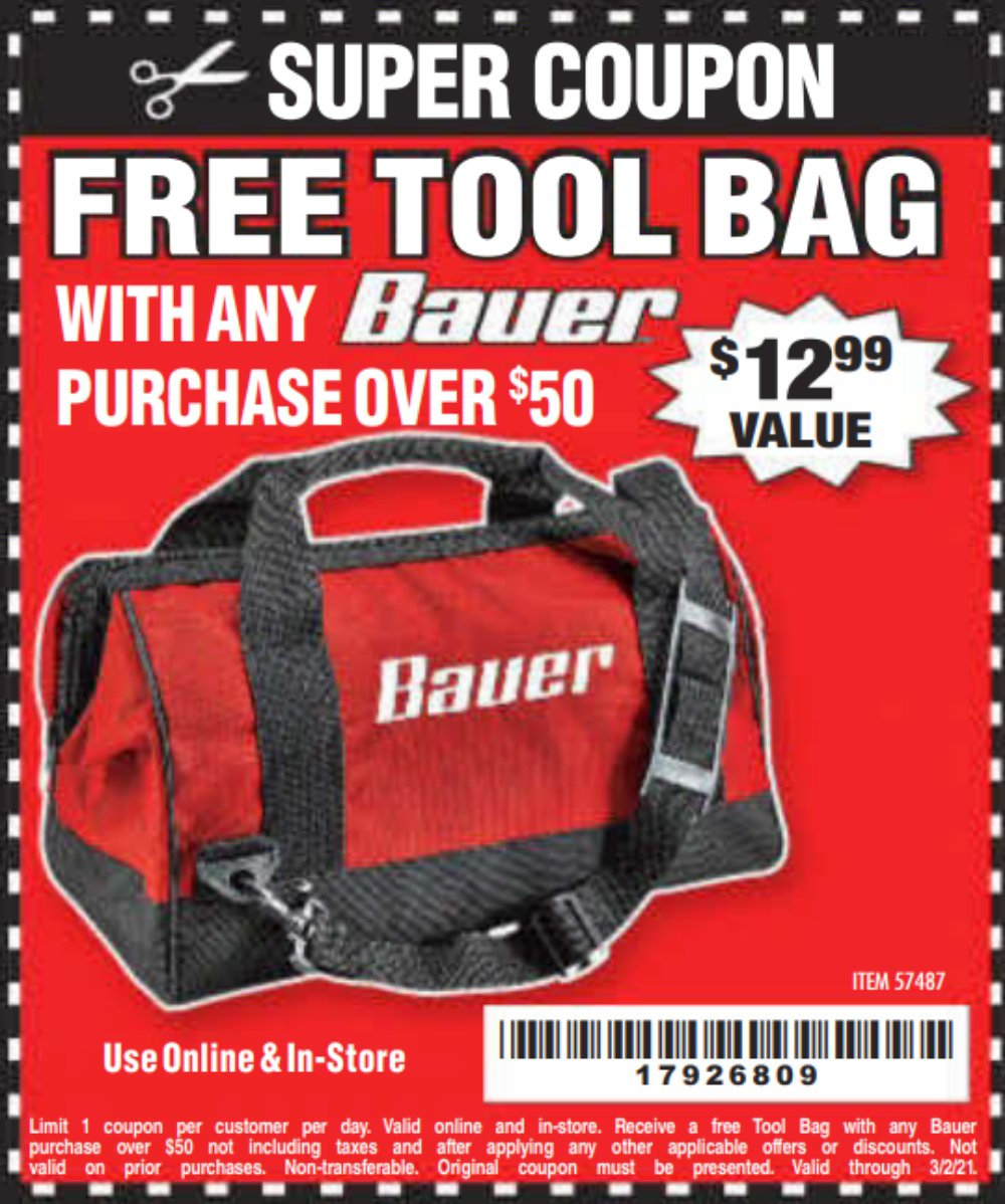 Harbor Freight Coupon, HF Coupons - 57487