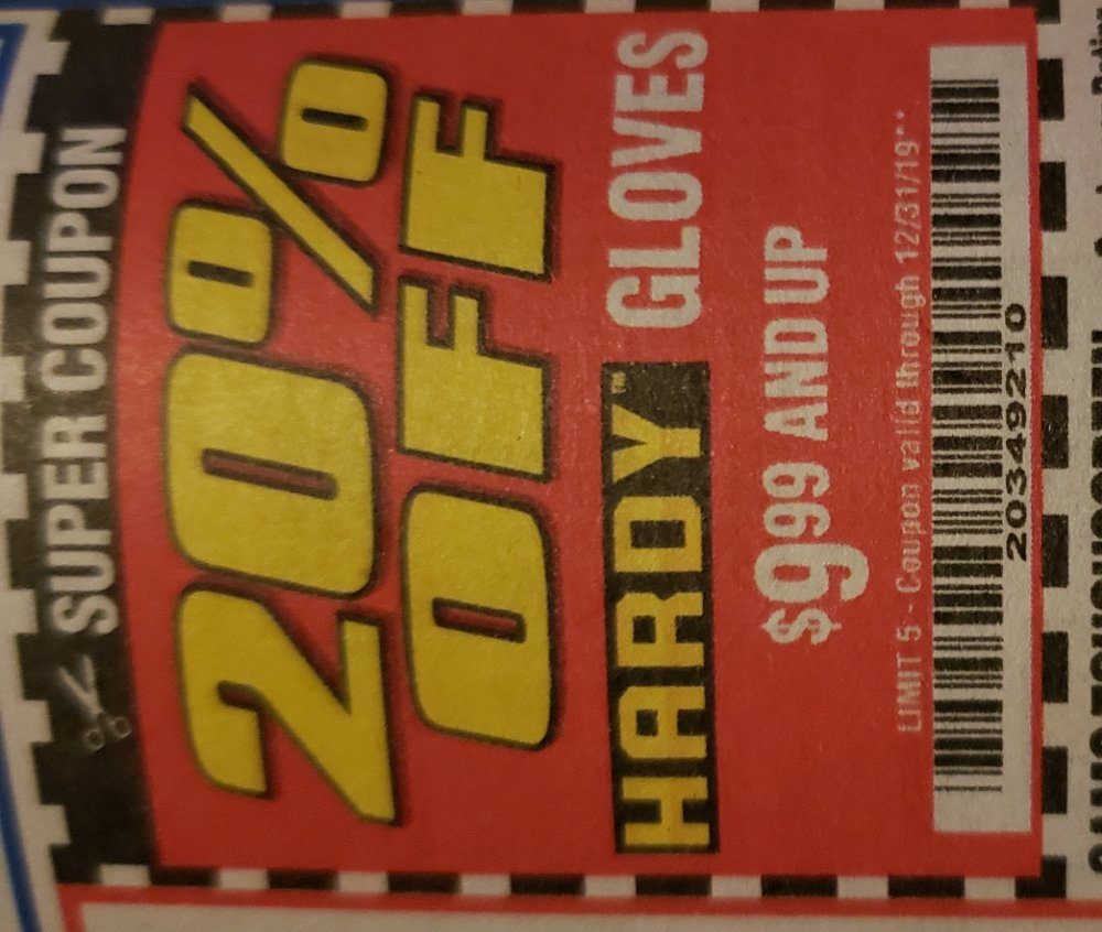Harbor Freight Coupon, HF Coupons - 20% off hardy gloves