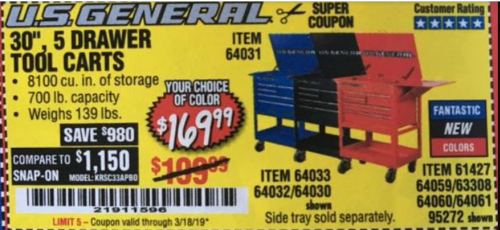 Harbor Freight Coupon, HF Coupons - 64031, 64033, 64032, 64030, 61427, 64059, 63308