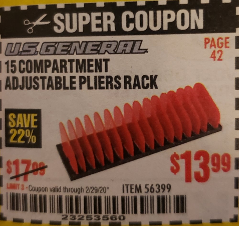 Harbor Freight Coupon, HF Coupons - 56399