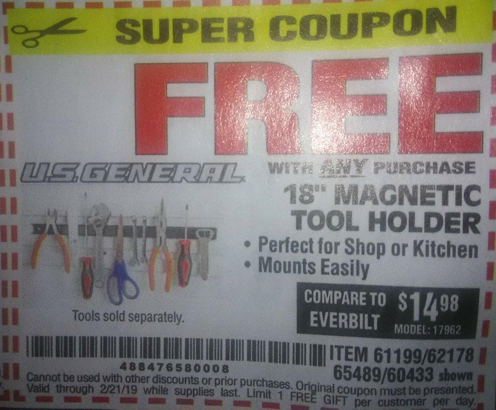 Harbor Freight Coupon, HF Coupons - FREE - 18