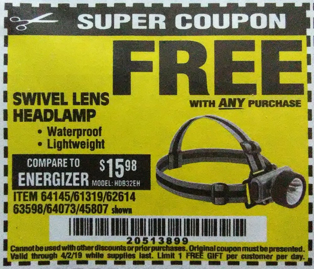Harbor Freight Coupon, HF Coupons - 64145