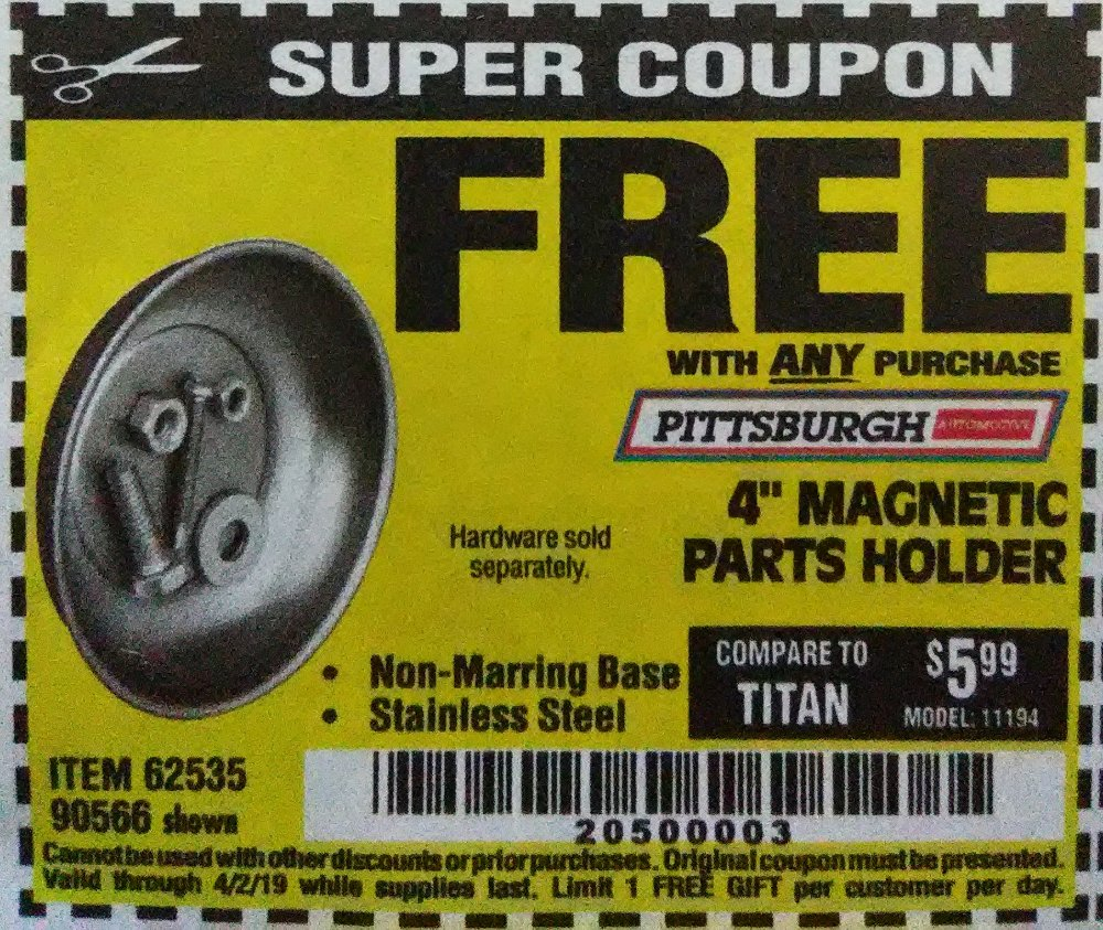 Harbor Freight Coupon, HF Coupons - FREE - 4
