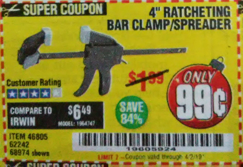 Harbor Freight Coupon, HF Coupons - 99 cents 4