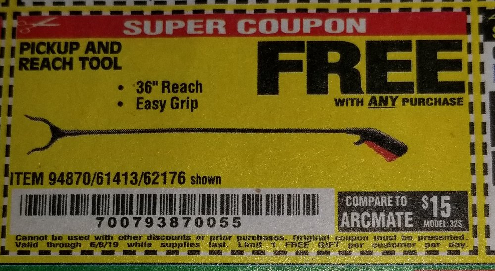 Harbor Freight Coupon, HF Coupons - FREE - 36