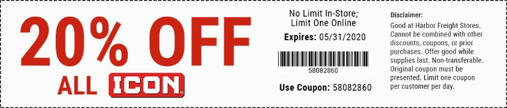 Harbor Freight Coupon, HF Coupons - All ICON