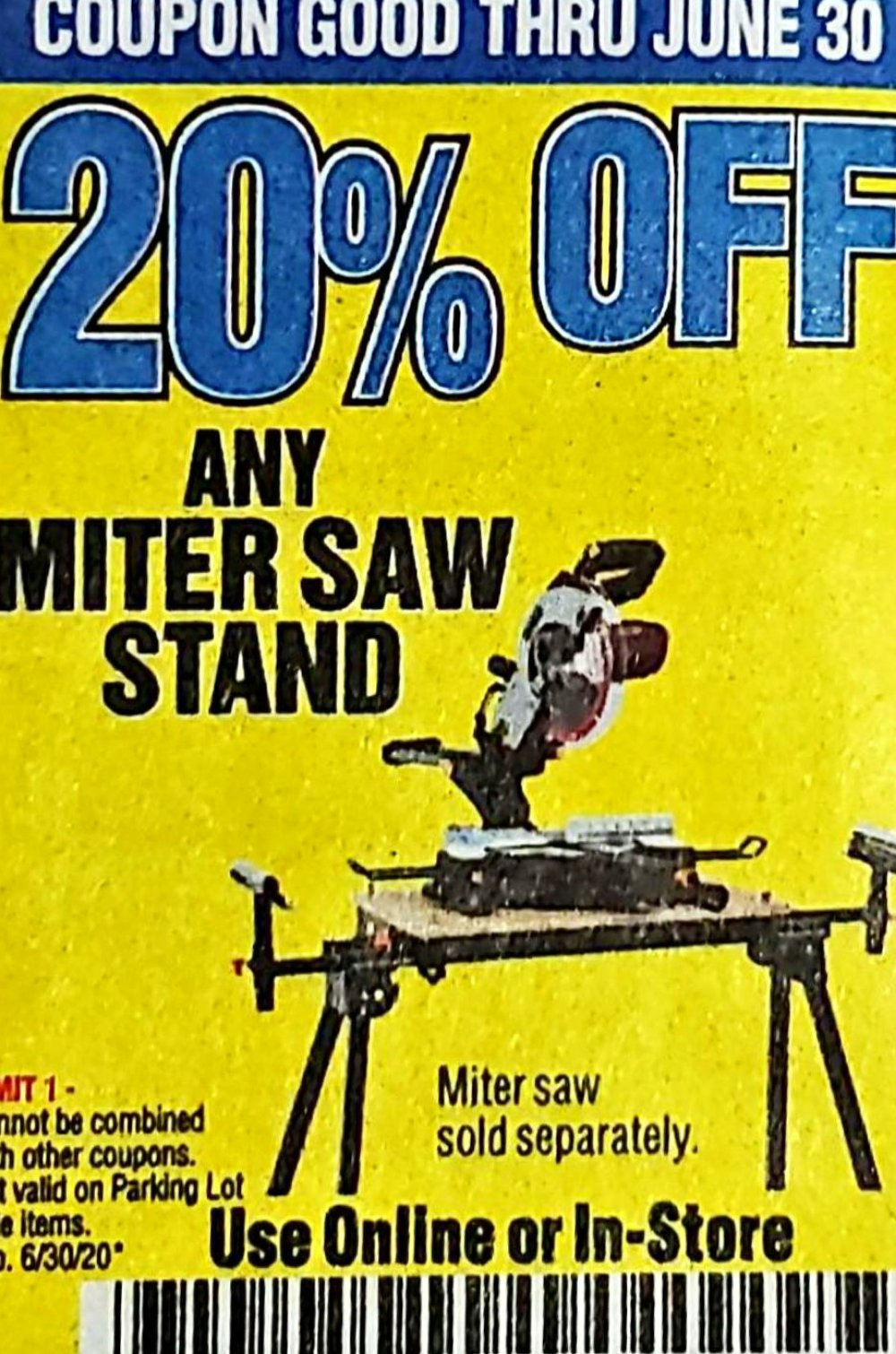 Harbor Freight Coupon, HF Coupons - 20% Any Miter Stand