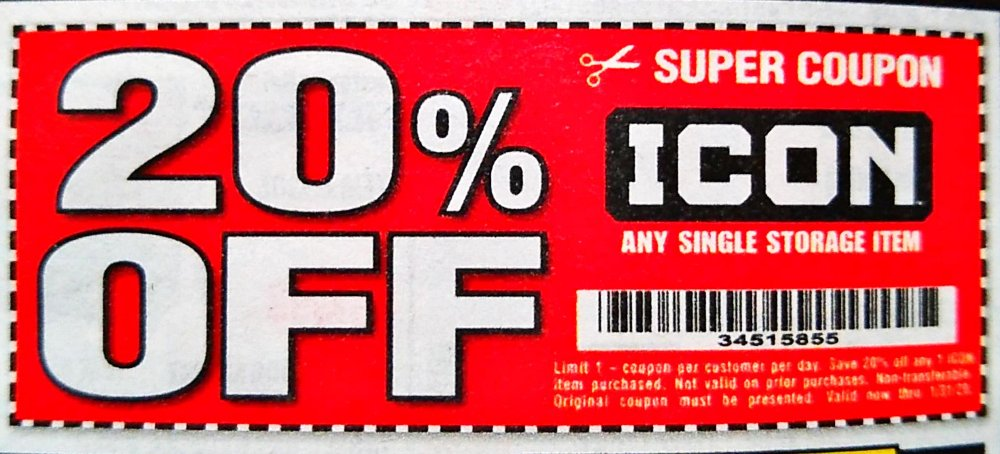 Harbor Freight Coupon, HF Coupons - 20% off any single storage item