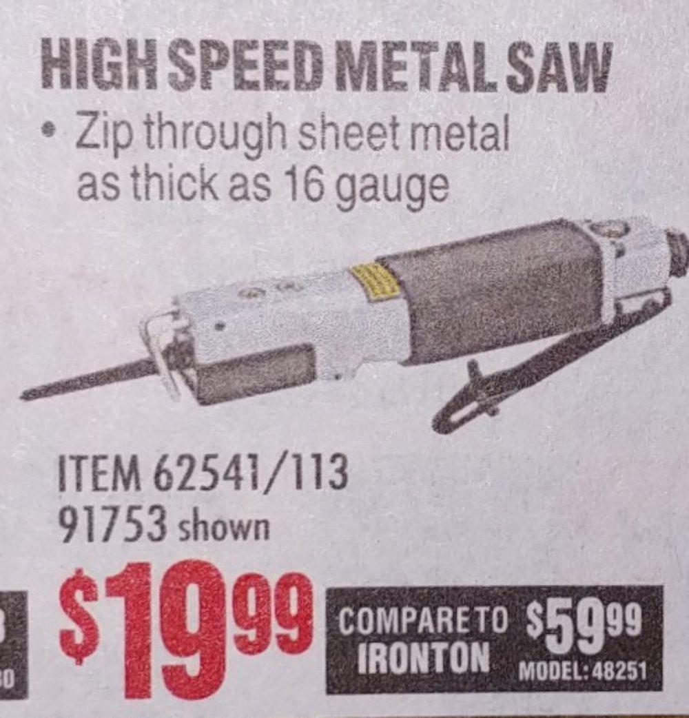 Harbor Freight Coupon, HF Coupons - High Speed Metal Saw