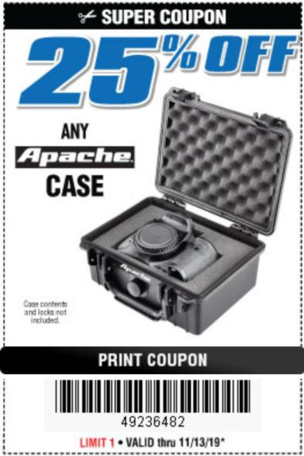 Harbor Freight Coupon, HF Coupons - any Apache case