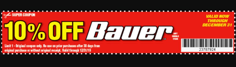 Harbor Freight Coupon, HF Coupons - 10% OFF Bauer