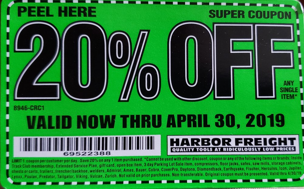 Harbor Freight Coupon, HF Coupons - 20%off