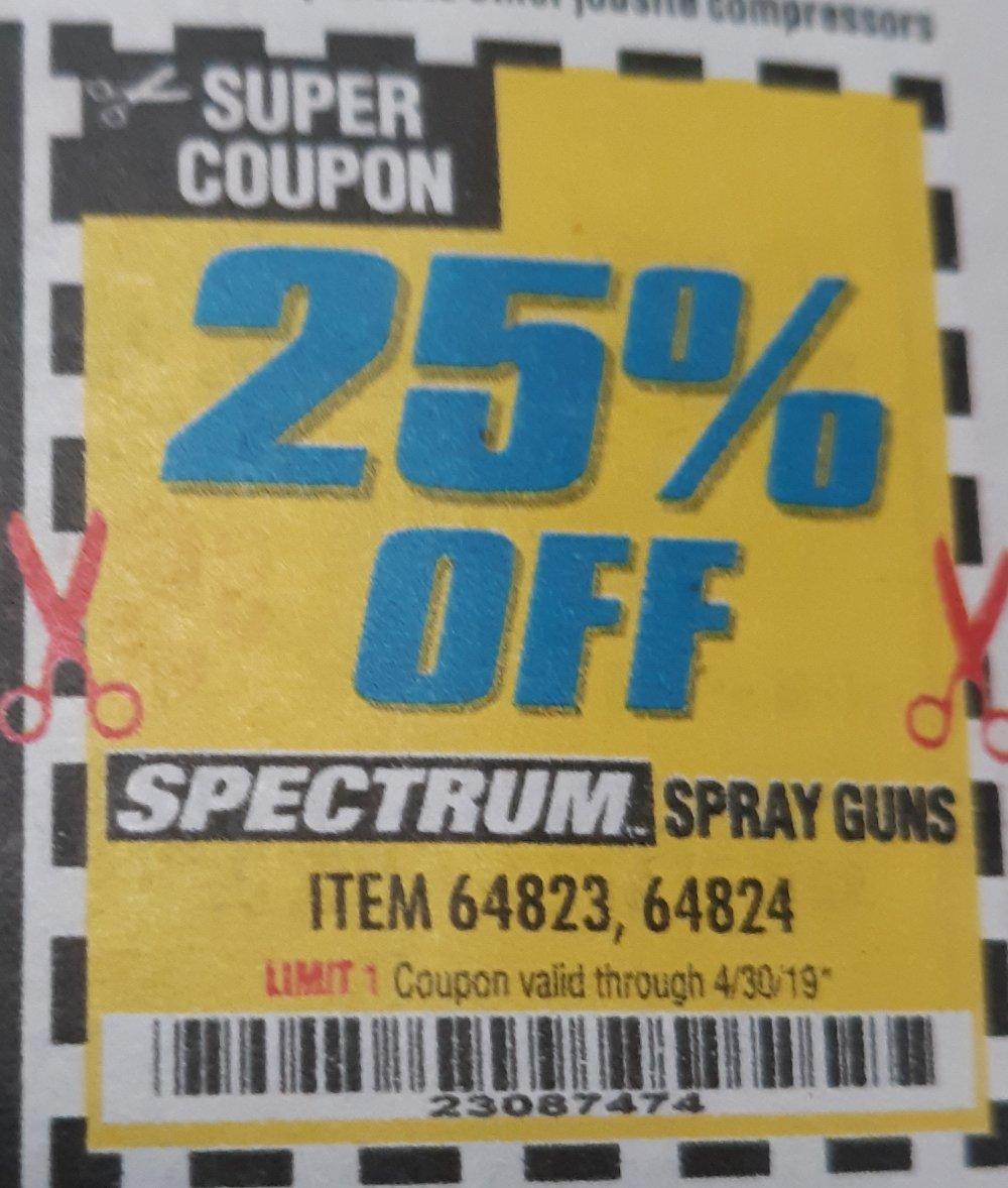 Harbor Freight Coupon, HF Coupons - 25%OFF SPECTRUM SPRAY GUNS